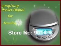 *10pcs/lot ::)  Mini electronic Digital Scale 0.1g/500g Jewelry Weight Balance Scale