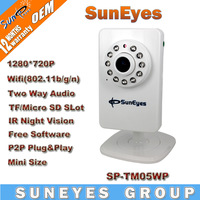 SunEyes 1280*720P HD Mini IP Camera Wireless Support Micro SD/TF Card Slot Can Playback Fomr Phone App (Free) IR Cut  SP-TM05WP