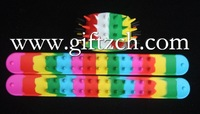 Wholesales, New arrival, 2000pcs Silicone Slap Brier Wristbands Bracelets