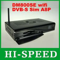 dm800HD se with Original SIM A8P Card 300Mbps Wifi Linux TV API dm800se DVB-S satellite receiver europe fedex free shipping