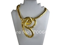 8mm Gold Silver iron material flexible bendy snake necklace chain for women twistable snake bracelet Necklaces