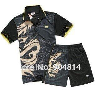 New 2012 Li-Ning Badminton /table tennis Men Dragon Shirt +shorts