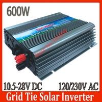 600W Solar PV On Grid Inverter DC10.5-28V to AC110V/220V 600W Solar Grid Tie Micro Inverter