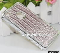 Crocodile Leather Skin Snake Skin Design Chrome Luxury Case for iPhone 4 4S.Crocodile Case for iPhone 4S.10pcs