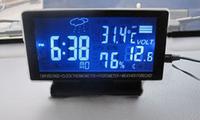 Car LCD Monitor Digital Thermometer Temperature Car Hygrometer Black Car Weather Forecast Clock Car Electronics
