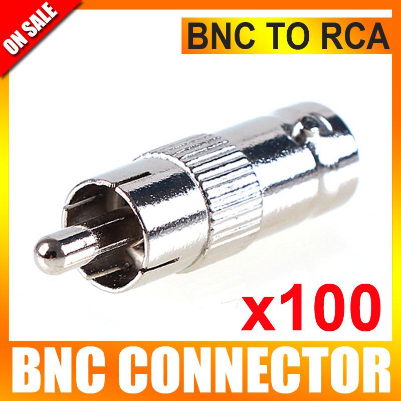 Аксессуары для видеонаблюдения UNITOPTEK 100Pcs/lot RCA BNC CCTV BNC-108-RCAF-M-100 кабель orient для камер видеонаблюдения cvap 20 видео bnc аудио rca питание 20 м oem