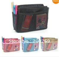 Free shipping sample order fashion cosmetic bag organizer, purse organizer,storage bags for women ,sample order