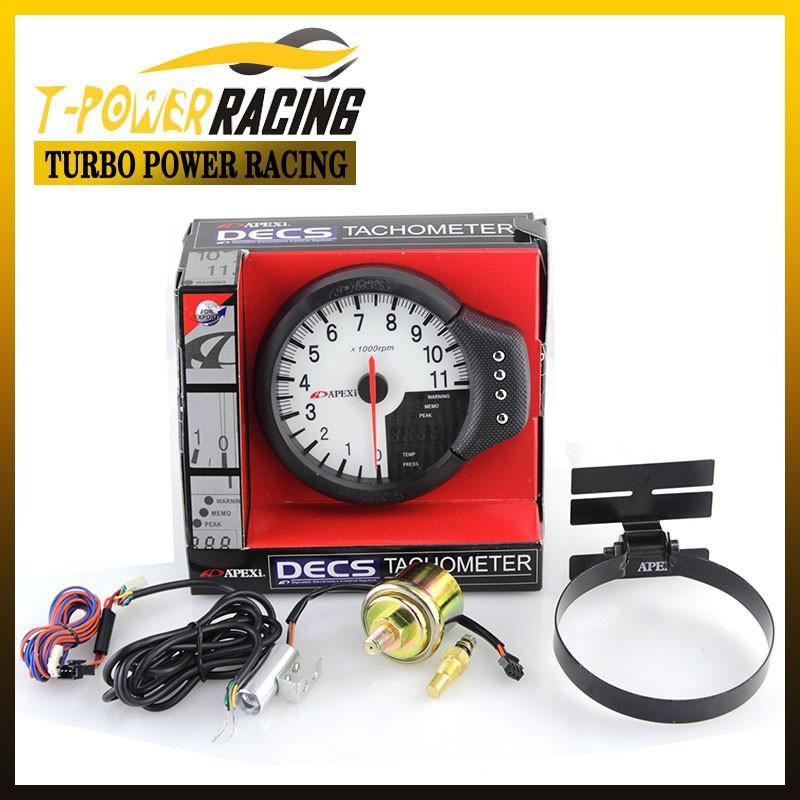 """5 """"Black apexi3 -em- um tacômetro , indicador de rpm, temperatura da água e pressão do óleo calibre / medidor Auto / Auto calibre / medidor de carro / metro Corrida(China (Mainland))"""