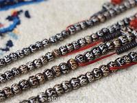 BRO952   Tibetan Buddhist 108 beads yak bone Rosary,8mm,Tibet Hand Painted OM mantras Prayer Mala,Wholesale Bracelets