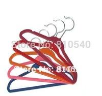 Children favorable colorful velvet flocked non-slip  hanger