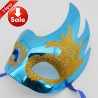 crack peacock party mask venetian masquerade ball decoration plastic mardi gras costume novelty gift free shipping 18pcs/lot