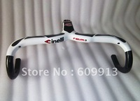 Free shipping ! 2012 NEW Italy most Full carbon Integrated handlebar white/black  Bicycle parts 420x120x 28.6mm (stem)