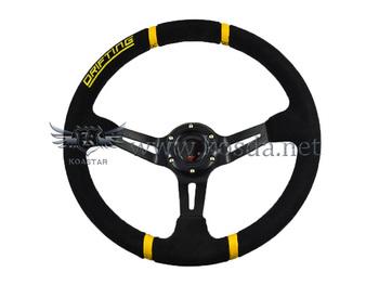 New Arrival: 350mm KOSDA Deep Corn Drifting Racing Steering Wheel / Suede Leather