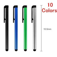 New! Cheap 10 Colors Capacitive Aluminum Alloy Universal Touch Screen Pen Stylus For Iphone Ipad Tablet PC Cellphone 10CM 10Pcs