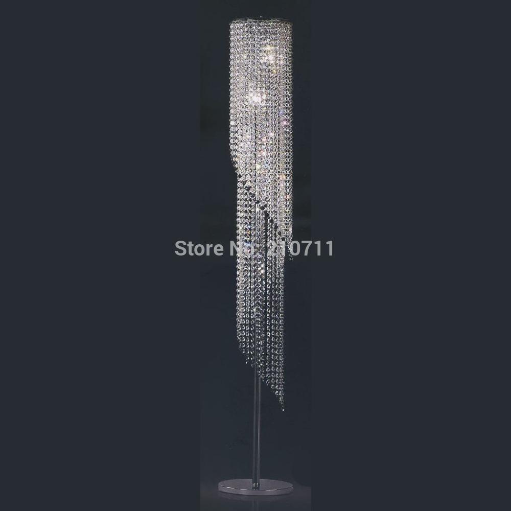 2015 hot sale modern home decoration living room bedroom k9 crystal floor lamp,standard lamp