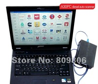 2012 New Public Guaranteed 100%  Free Shipping Original A30PC diesel auto computer scanner -- 3 years warranty+wholesale/retail