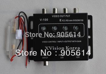 1 to 4 Video Amplifier Car Distribution RCA Splitter