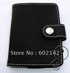 Black Leather Business Card Case 20 page(China (Mainland))