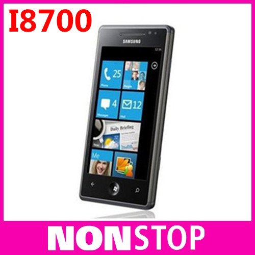 I8700 Original Samsung i8700 Omnia 7 Windows Mobile 7 Unlocked 3G 4.0'' TouchScreen Cell Phone Free Shipping In Stock(China (Mainland))