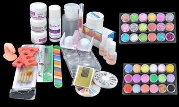 Acrylic Powder Liquid Primer UV Nail Art kit Tip Set Dust Stickers Brush dropshipping 31