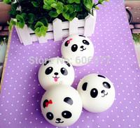 Medium-Sized 7cm Kawaii Panda Couple Squishy Cell Phone Charm/Free Shipping