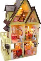 DIY dollhouse, light Doll house,Children toy ,wooden dollhouses toy,model,dollhouse miniature