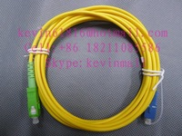 3 meters length optical fiber jumper SC/PC-SC/APC or SC/PC-SC/APC Connector single model single core of 3mm diameter