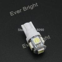 500X  T10 194 168 W5W 12V 5050 5 SMD 5 LED LED Light Bulb white 6000K-6500K Parking Light Indicator Reading Lamps