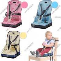 Portable Baby/Child/Kid/Toddler/Infant Children Travel Diner Feeding High Chair Booster Seat Cover Safety Harness Cushion Bag