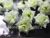 Wholesale -200pcs/lot /artificial Mini rose silk flowers green Rose wedding simulation flower silk 4cm in dia