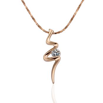 18KGP N198 N475 18K Gold Plated Necklace Nickel Free K Golden Plating Pendant Rhinestone Austrian Crystal  Element