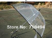 15pcs/lot free DHL shipping black lace trim clear bubble umbrella, korean style dome shape umbrella, transparent umbrella