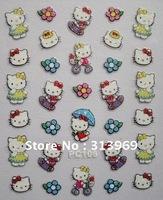 24 style Hello Kitty Nail Art 3D Nail Sticker 3D Beauty Nail Patch hotsale TSM12052809