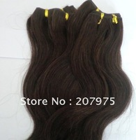 "100% Brazilian Peruvian human hair extensions machine weft free shipping 16'' -24"" color 1b &#2 body weave 4pcs/lot best quality"