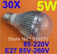 5W LED Bulb E27base,AC85V-265V(dimmable available)