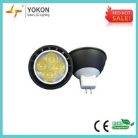 Free shipping 10pcs/lot 5W 300LM cool white MR16 LED Power spotlight