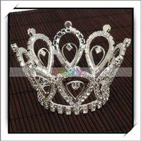 Free Shipping,Wedding Bridal Waterdrop Style Rhinestone Crown Tiara,New and high quality,16004092
