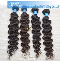 Brazilian hair weave bundles hair extensions human brazilian deep wave natural black color 4pc per lot