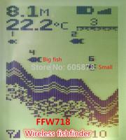 FFW718 Digital Wireless Dot Matrix Fish Finder Fishfinder Sonar Radio Sea Bed Contour Live Upate 131ft / 40M echo sounder