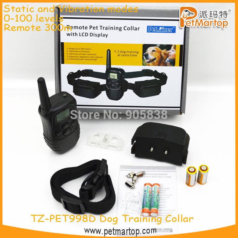 Free Shipping! !New Remote Bark Control Collar TZ-PET998D Bark stop collar+LCD Display+Waterproof ,1 For 1, MOQ 1 Pcs(China (Mainland))