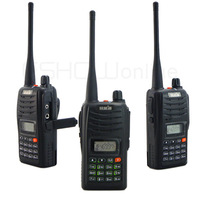New HST H555 Walkie talkie Portable Radio 7W 199CH UHF or VHF  Two-Way handheld Radio with LCD A0848A  3-5KM Free eaphone