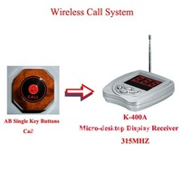 Cheapest Wireless Table Bell System for Restaurants 5pcs Table buzzer transmitter +1pcs Micro-desktop Receiver