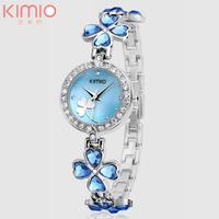Brand Kimio Quartz Watch Stainless Steel Women Crystal Watch Elegant Star Crystal Diamond Watch for Lady