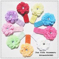 Fashion Crochet Baby Headband,Peony Flowers Baby Hair Bows,Girls Hair Band,Baby Head Accessories, FS062+Free Shipping