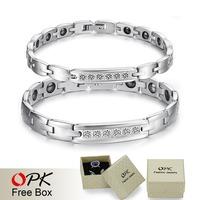 OPK JEWELRY BRACELET  Healing Stainless Steel Magnetic Bracelet stainless steel bracelet Korea style new fashion 1PCs 3072