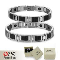 OPK JEWELRLY Stainless steel bracelet  Magnetic Bracelet healthy jewelry retail BIO Energe  Gift  3384