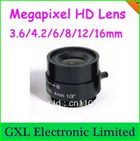 Free shipping, Megapixel HD Digital CNE Lens 4/6/8/12/16mm optional