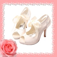 Royal Princess White Satin Evening Shoes size 34-42# FREE Shipping Dropship Service