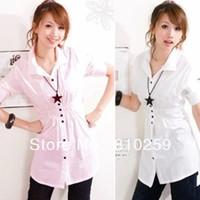 Женская футболка 008 2013 summer women new fashion short sleeve irregular batwing t shirts loose cotton shirts dress tops blouse