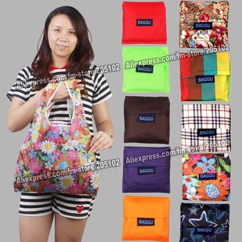 Japan BAGGU square pocket Shopping bag ,only 15pcs/lot min-order,many colors available Eco-friendly reusable folding handle Bag